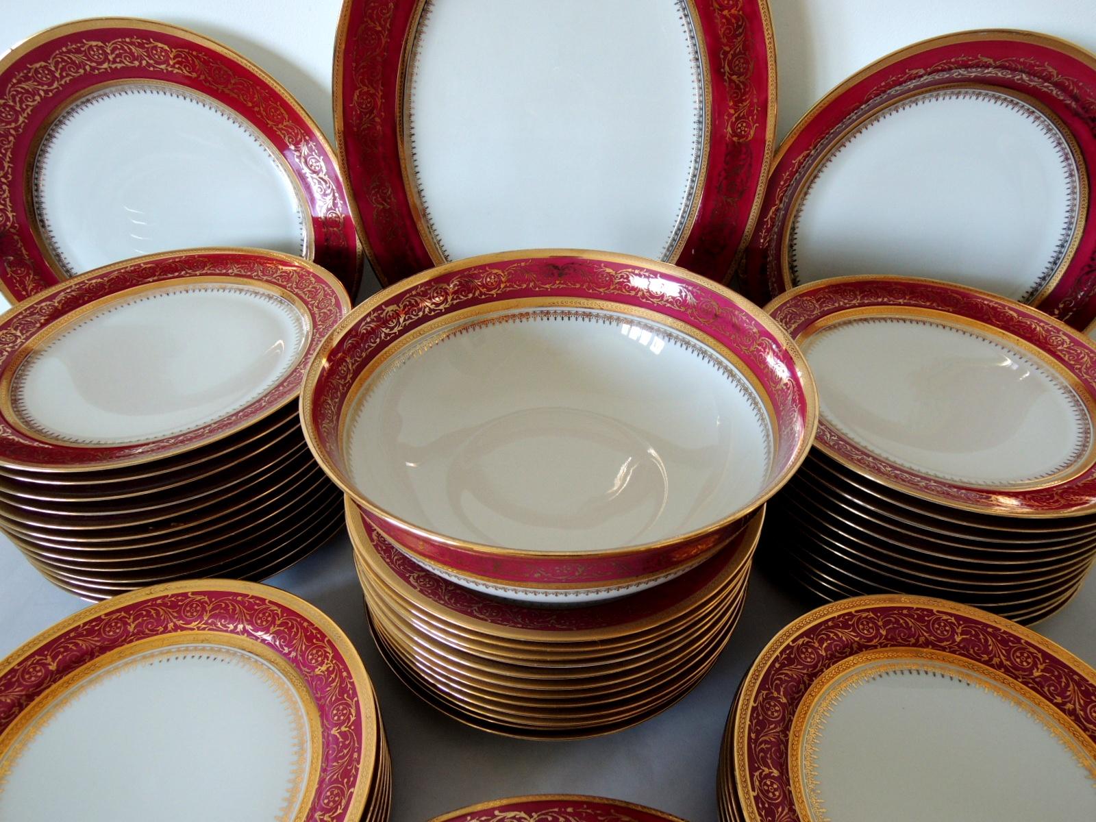 Service de table limoges ahrenfeldt porcelaine - Service de table en porcelaine ...