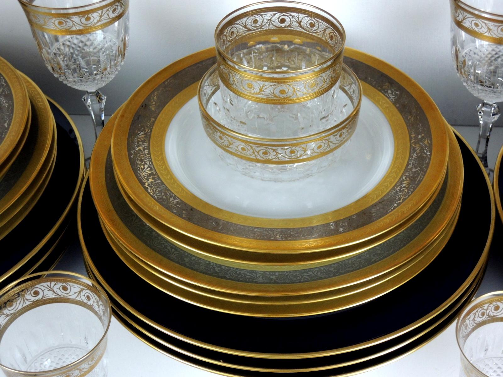 porcelaine de limoges cristal saint louis thistle. Black Bedroom Furniture Sets. Home Design Ideas